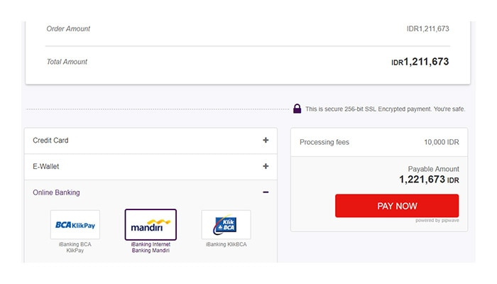 Checkout With Ibanking Internet Banking Mandiri Offgamers Payment Guide